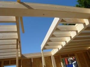 Ossature bois charpente dessin habitat cologique et formations dao - Ouverture tremie plancher bois ...